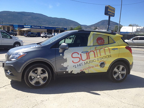 Partial Vehicle Wrap SunFM