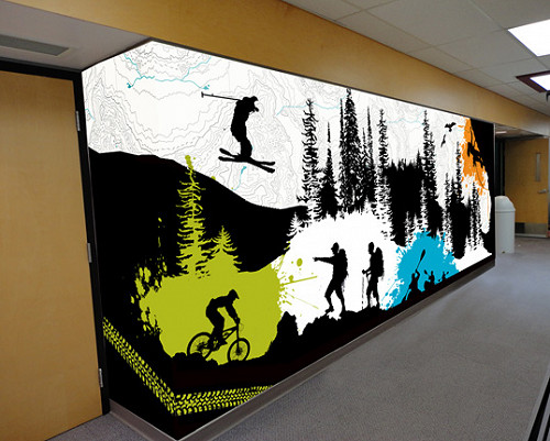 Custom Designed and Printed Wall Mural